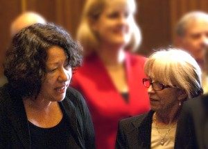 Justice Sotomayor chatting with Chris