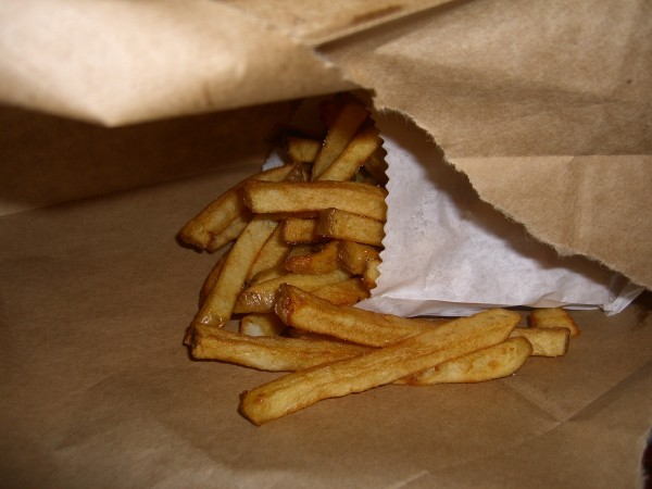 I opted for the house-made (as opposed to the sweet potato) fries.