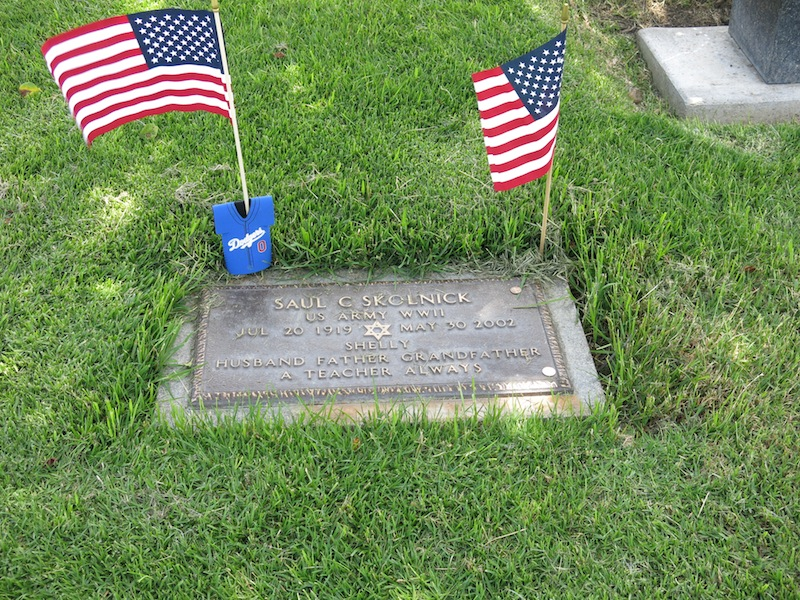 My dad's grave in Corona del Mar on Sunday, when we visited.