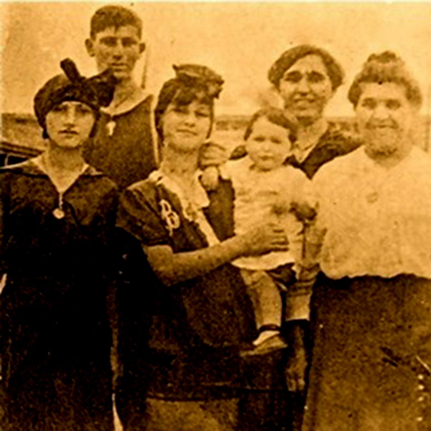The Struber family at the beach, probably sometime in 1914, probably at Brighton Beach or Coney Island, Brooklyn, NY. (Collection of Victor R. Struber)