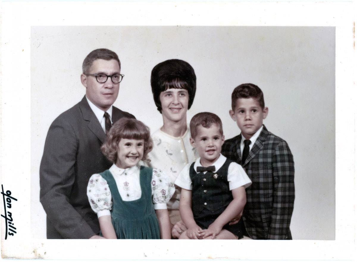The Noble family. From left to right, Maurice Noble, Ellen Noble, Pearl (Schekman) Noble, Andy Noble, and Michael Noble, probably in the mid-60s.
