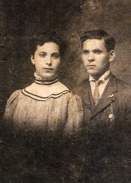 Formal portrait of Pauli (Schneider) Strober and Sam Strober circa 1908. (Collection of Arthur Einig)